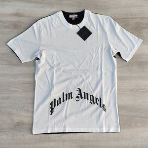 Palm Angels Black-White Skeleton Print Men Tshirt